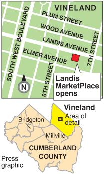 Landis Marketplace map