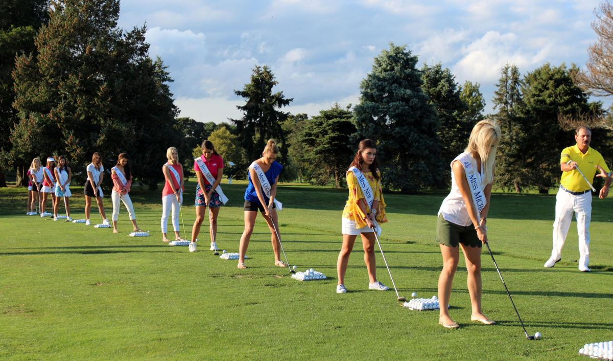 Miss America contestants tee off at Linwood Country Club