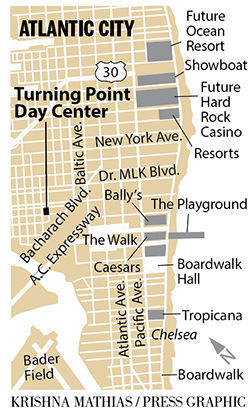 Turning Point Day Center map Atlantic City