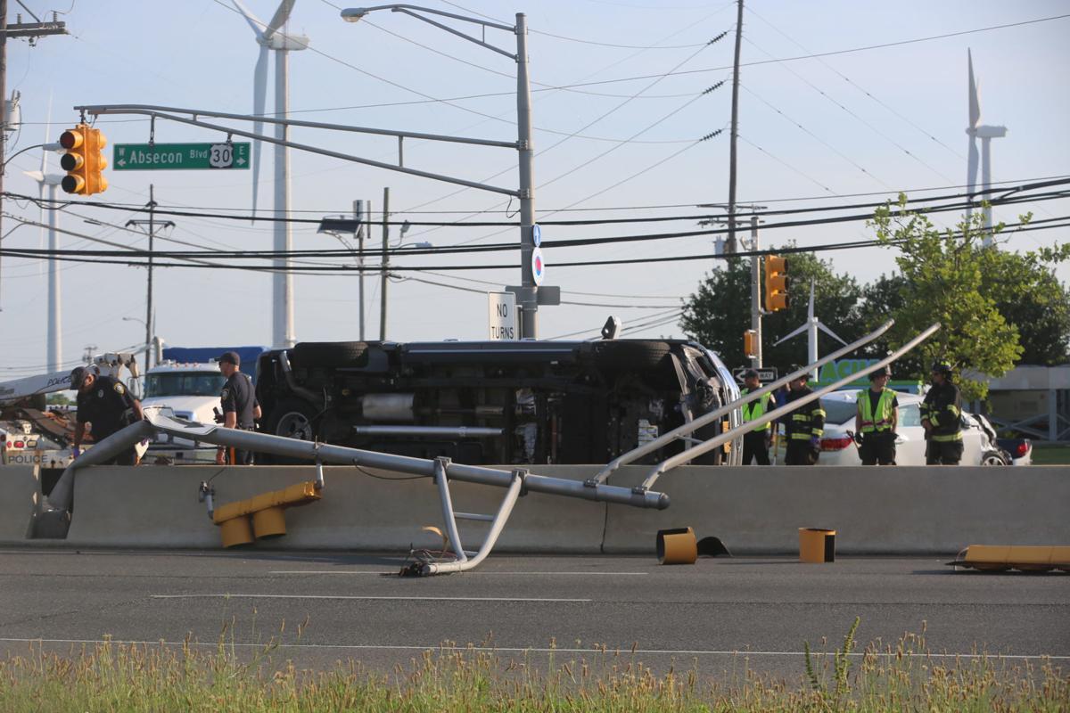 Truck in crash