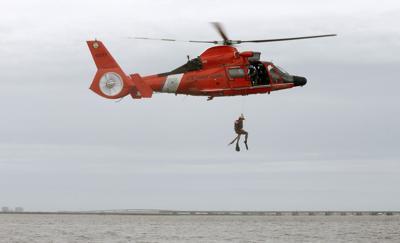 US Coast Guard Rescue Swimmer