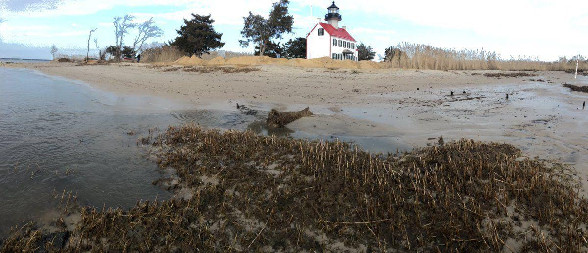East Point Lighthouse suffers dune loss