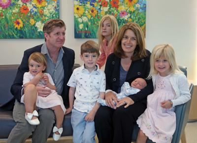 Former U.S. Rep. Patrick J. Kennedy and his wife Amy introduce their fifth child