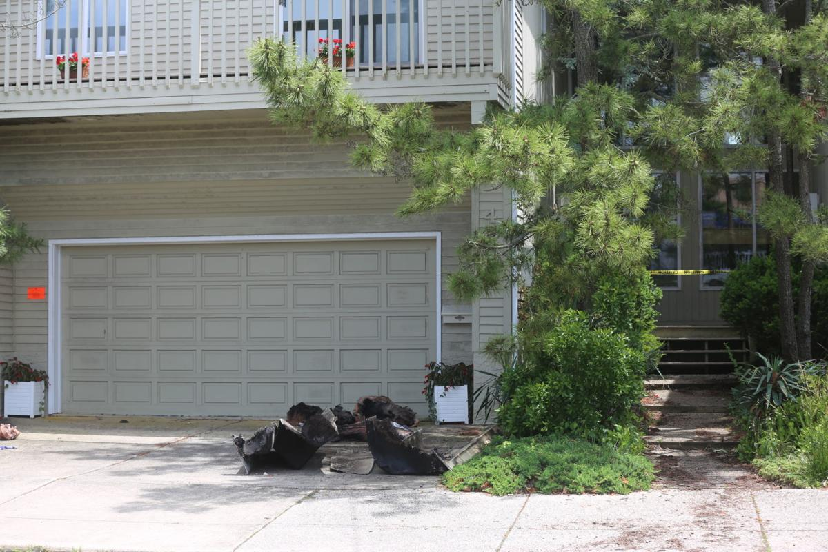 Smoke damage from a fire in a crawl space on the 4000 block of Central Avenue in Ocean City early Saturday morning, June 15, 2019, left this side-by-side residence uninhabitable, fire officials say.