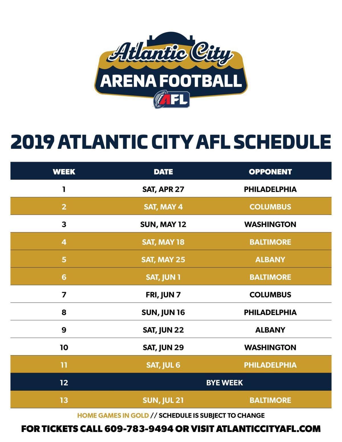 AC AFL schedule