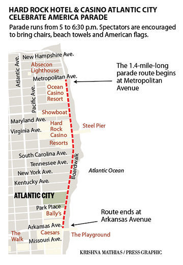 Hard Rock Casino Parade route