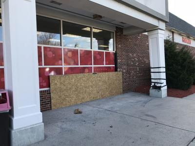 A car crashed into the CVS in Somers Point Monday