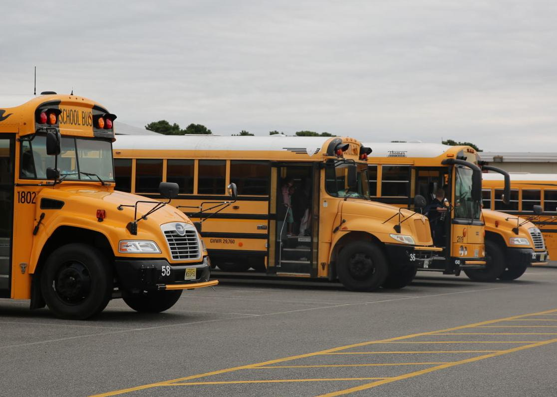 Egg Harbor Township students return for the first day of school Thursday, Sept. 5, 2019 at Slaybaugh Elementary School.