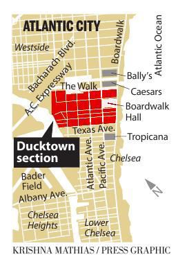 Atlantic City Ducktown 2018 map