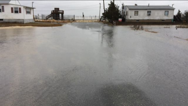 Flooding at bay and E. Edgewater Ave. Pleasantville March 2018