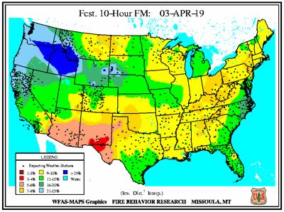 Wednesday's 10-Hour Fuel Forecast