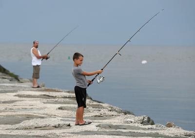 Fishing Reeds Beach Storm