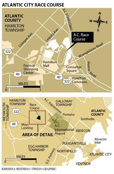 Atlantic City Race Course large map 2016