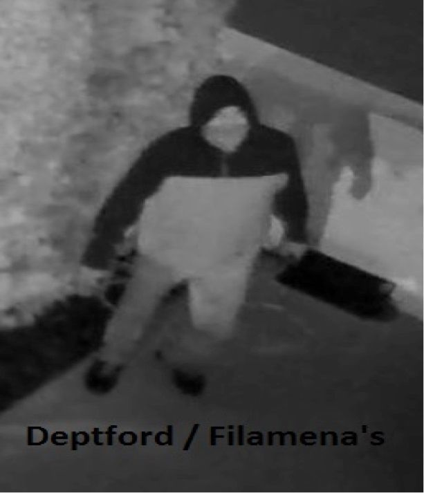 Surveillance photo from Filomena's in Deptford