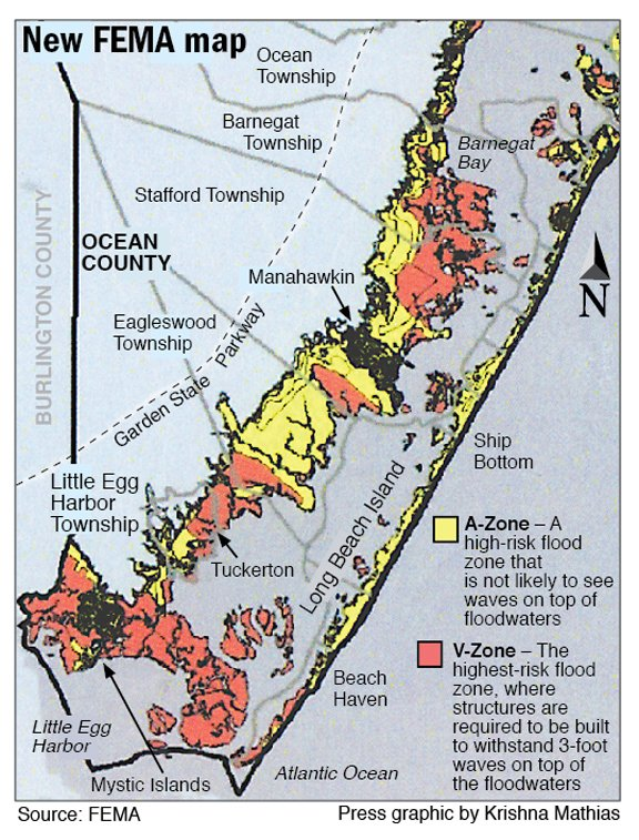 Preliminary FEMA flood maps for New Jersey reduce high-risk ... on