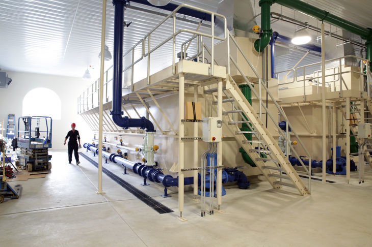 Egg Harbor City water treatment plant inside