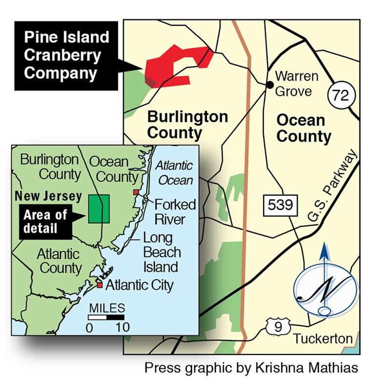 Pine Island Cranberry map