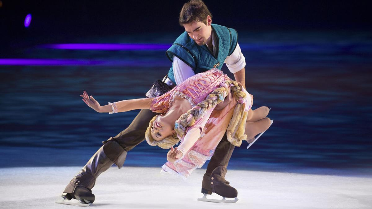 On-ice prince and princess, real-life couple, 'Reach for the Stars' at Disney on Ice's Boardwalk Hall show