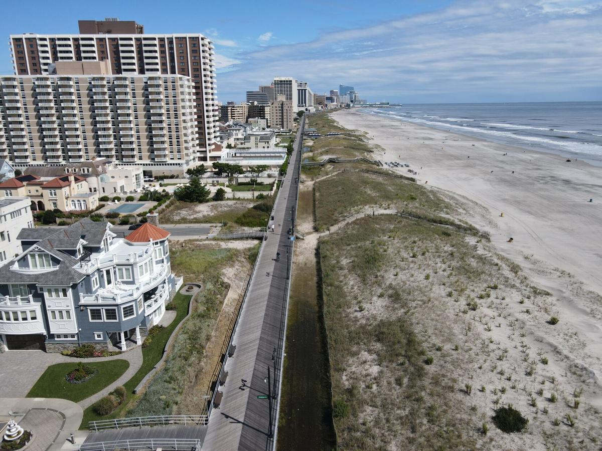 Fall Atlantic City Boardwalk Mostly Sunny