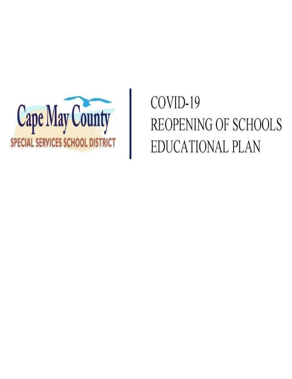 Cape May County Special Services School District reopening plan