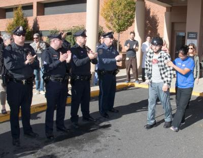 Wounded Atlantic City police officer Vadell returns home
