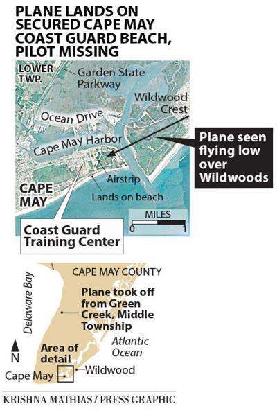Coast Guard plane lands on beach