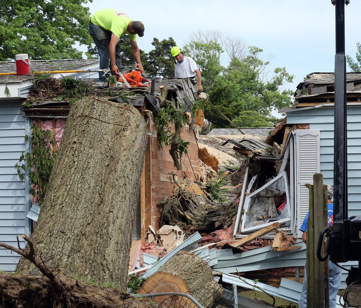 Storm Damaged Home Villas
