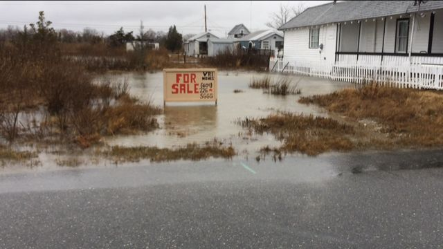 Edgewater Avenue flooded lot Pleasantville March 2018