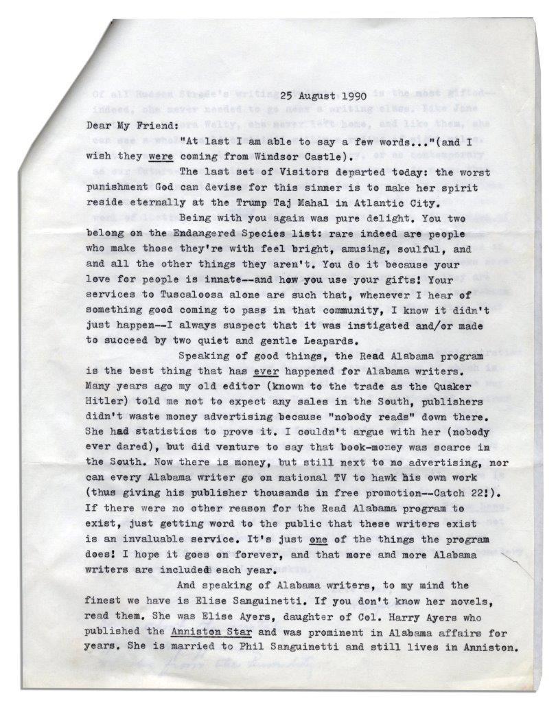 Harper Lee letter
