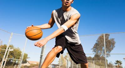 recreational basketball logo holder hoops