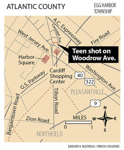 EHT teens shot Woodrow Ave. map