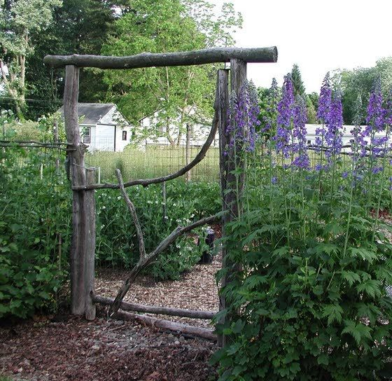 Think Durability When Building Rustic Garden Gate