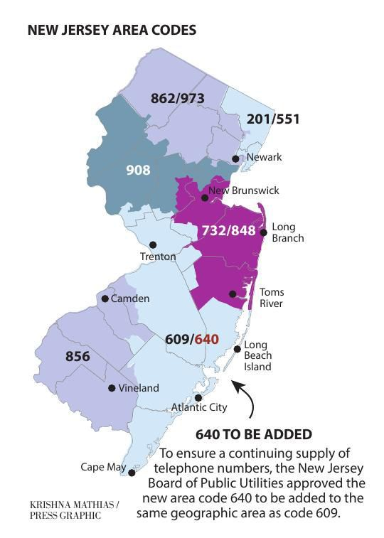 South Jersey To Share Area Code In The New Year News - 856 area code