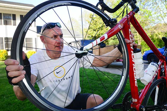 A promise to ride: Retired state trooper to bike cross country to raise funds and keep vow he made to his late wife