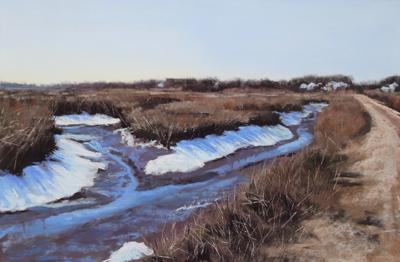 Seaview Snowy Marsh - 12 x 18