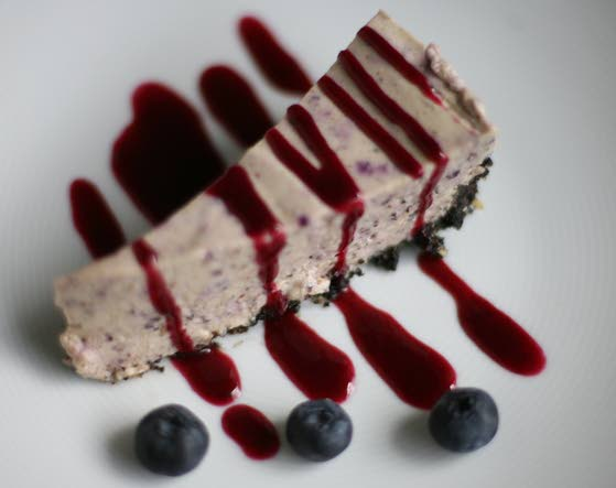 Fresh berries star in every layer of icebox cheesecake