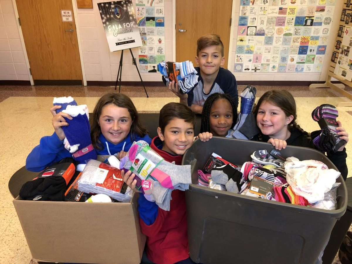 4bd6cdf99 Linwood families kick in 250 pairs of socks for PTO collection drive ...