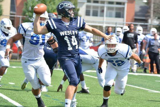 Wesley College Football >> Holy Spirit Grad Joe Callahan Named Division Iii S Top
