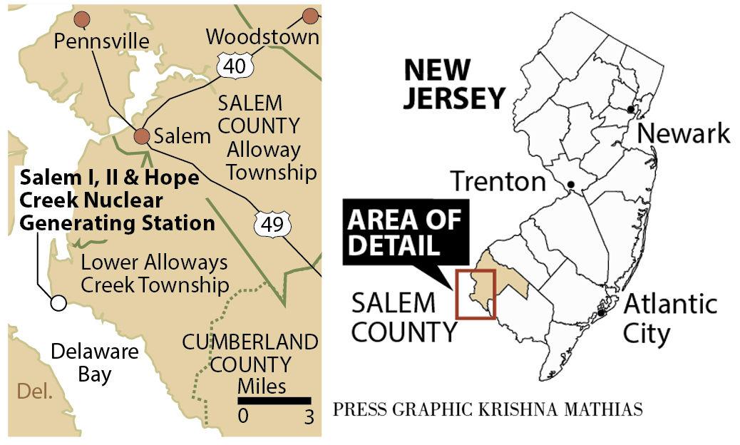 Salem nuclear plants map