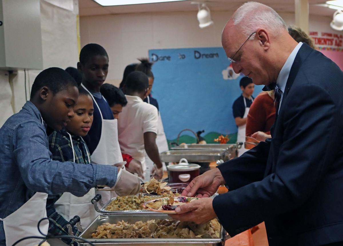 School students host lunch for city officials