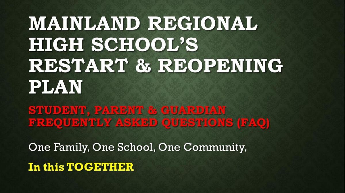 Mainland Regional reopening plan