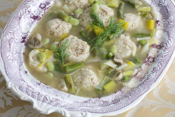 Lighten up Passover soup, no leavening needed here