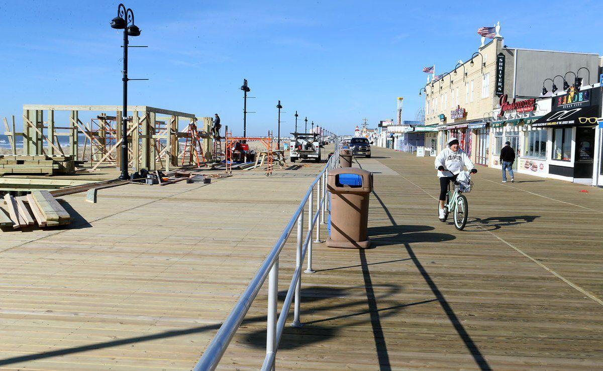 Construction at Ocean City Boardwalk
