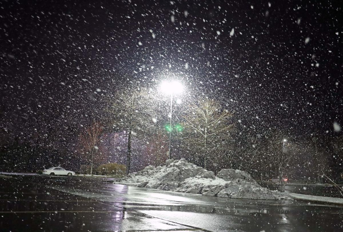 Nighttime Snow