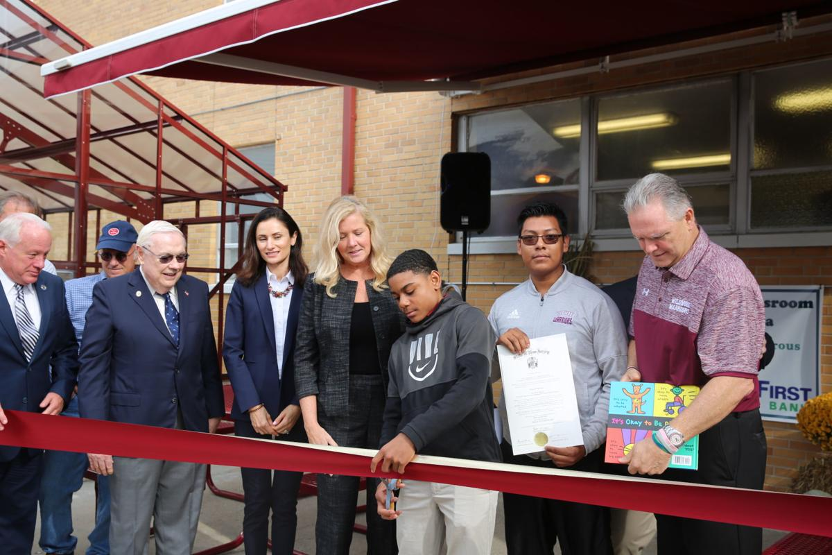 Wildwood school officials cut the ribbon on a new greenhouse and the Warrior Cafe Friday, Oct. 25, 2019.