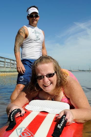 Out of the wheelchair, into the water