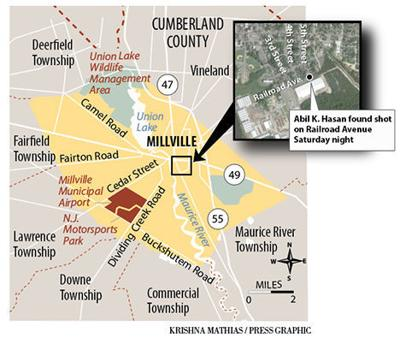 Millville homicide map 4-9-2018