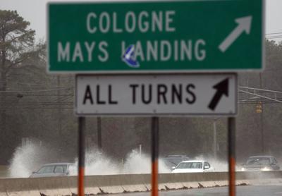 Rain storm hits Atlantic County