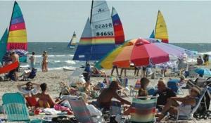 beach with sails