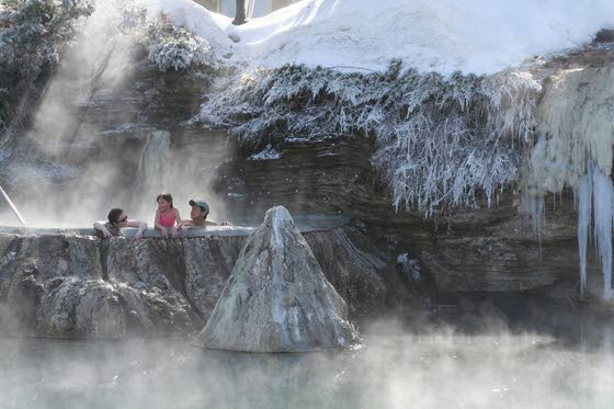 Soak, ski, sit back and relax: At Colorado hot springs, it's swimsuit weather even as snow flies